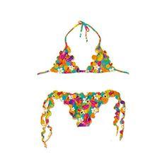 5fef5935d1 No Boundaries Juniors' Molded Push-Up Triangle Swim Bikini Top, Multicolor  | Products | Pinterest | Products