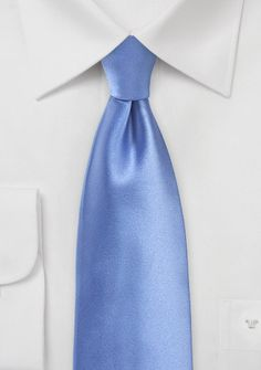 New Kids Tie! Solid Colored Kids Tie in Peri Blue