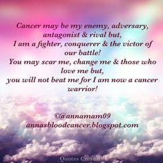 Cancer fighter warrior battle survivor life quote by blood cancer survivor