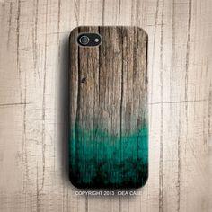 iPhone 5 s Fall - Grüne Minze malen auf Holz, Holz Iphone 5 Case, Iphone 4 s Iphone 5 s Fall