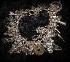 "8"" Grimm Bros Disney-esque Fairy Tale Inspired MEGA 50 Charm Bracelet | BrulezRulez - Jewelry on ArtFire"