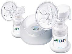 Philips AVENT BPA Free Twin Electric Breast Pump - B004HFQOLS 119$ Features: Remembers your personal rhythm More milk in less time Patented soft 5-petal massage cushion Gentle with clinically proven results comparable to a hospital grade pump