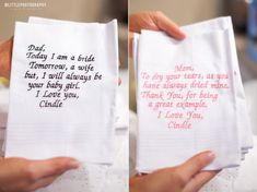 Wedding day gifts for parents