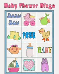 """For your next baby shower include this simple printable """"Baby Shower Bingo Game."""" Everyone loves bingo. Loteria Para Baby Shower, Bingo Baby Shower, Baby Shower Printables, Shower Party, Diy Baby Shower Decorations, Baby Shower Unisex, Frozen Bebe, Juegos Baby, Baby Shawer"""