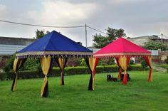 Brightly colored Pergola Tents by Sangeeta International