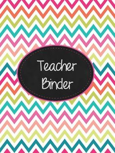 Get organized by creating a Teacher Binder that holds all your important info in one place. This is a set of 12 divider covers (one blank) to get you started! This is the Multi-Chevron design. Check my TPT store for other designs-  Chevron and Apple Dots.