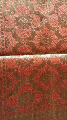 1970s vintage pure banarsi gold work silk saree / vintage