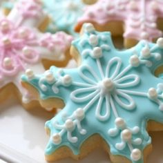Snowflake Sugar Cookies - Almost too pretty to eat.  Almost.