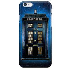 Sherlock Doctor Who Tardis Mash-up iPhone Case