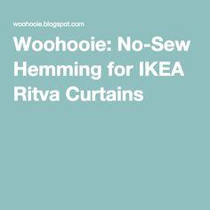 Woohooie: No-Sew Hemming for IKEA Ritva Curtains