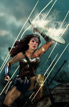 It is our sacred duty to defend the world, wonder woman was such an incredibly stunning movie, dc superheroes Wonder Woman Art, Wonder Woman Comic, Gal Gadot Wonder Woman, Dc Comics Art, Comics Girls, Marvel Dc Comics, Batwoman, Nightwing, Hawkgirl