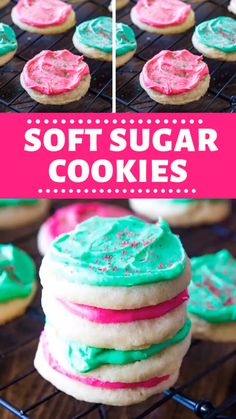 Soft, chewy sugar cookies are the perfect treat for any occasion. This no-chill dough recipe is super easy and results in the perfect drop sugar cookies. Drop Sugar Cookie Recipe, Drop Sugar Cookies, Vegan Sugar Cookies, Chocolate Cookie Recipes, Peanut Butter Cookie Recipe, Easy Cookie Recipes, Thick Chewy Sugar Cookie Recipe, Lofthouse Sugar Cookies Recipe Copycat, Pillsbury Sugar Cookie Recipe