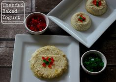 Thandai Baked Yogurt: Is a fusion dessert with thandai flavours infused in yogurt and then baked.