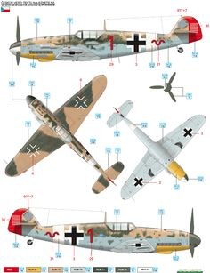 Here is the Messerschmitt Bf 109G-2/Trop JG 27 Camouflage Color Profile.