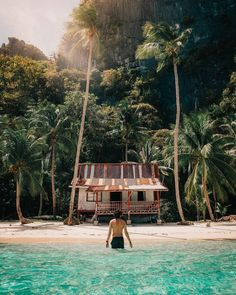 The Philippines is a tropical paradise 😍🏝💦 📸 Sam Cahill Small House Furniture, Home Furniture, Outdoor Furniture, Outdoor Decor, Modern Furniture, Beach Shack, Tropical Paradise, Porch Swing, Painted Furniture