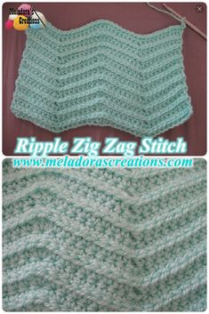 A crochet video tutorial by Meladora's Creations on how to crochet the ripple zig zag stitch. The tutorial comes with photos and a left and right handed video. Zig Zag Crochet Pattern, Crochet Ripple, Crochet Stitches Patterns, Baby Blanket Crochet, Crochet Designs, Free Crochet, Crochet Baby, Stitch Patterns, Knit Crochet