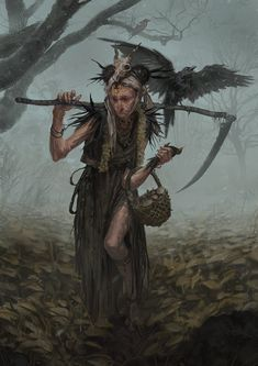 Witch – fantasy character concept by Silviu Sadoschi High Fantasy, Fantasy Rpg, Dark Fantasy Art, Character Concept, Character Art, Concept Art, Fantasy Inspiration, Character Inspiration, Fantasy Characters