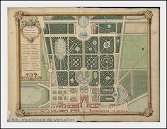 Plan général du château et jardins de Versailles.