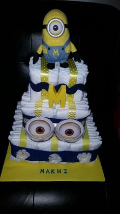 Custom minion baby shower invite baby shower invitations despicable me minions my first cake baby shower filmwisefo