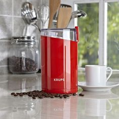 #KSPPin2Win Krups Fast Touch Coffee Grinder 12-Cup Red | Kitchen Stuff Plus
