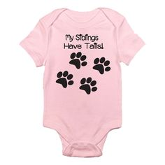 Amazon.com: My Siblings Have Tails One-piece Baby Bodysuit: Clothing