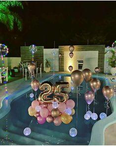 Birthday Goals, 18th Birthday Party, Diy Birthday, Birthday Party Themes, 25th Birthday Ideas For Her, Birthday Balloon Decorations, Birthday Balloons, Festa Party, Birthdays
