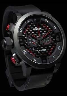 K31 10001 Red Black Chronograph