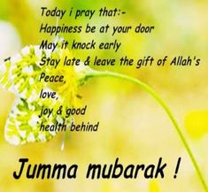 Beautiful Jumma Mubarak Wishes Messages - SMS - Quotes Jumma Mubarak Hadees, Jumah Mubarak, Jumma Mubarak Quotes, Ramadan Mubarak, Friday Messages, Friday Wishes, Wishes Messages, Hd Quotes, Quran Quotes