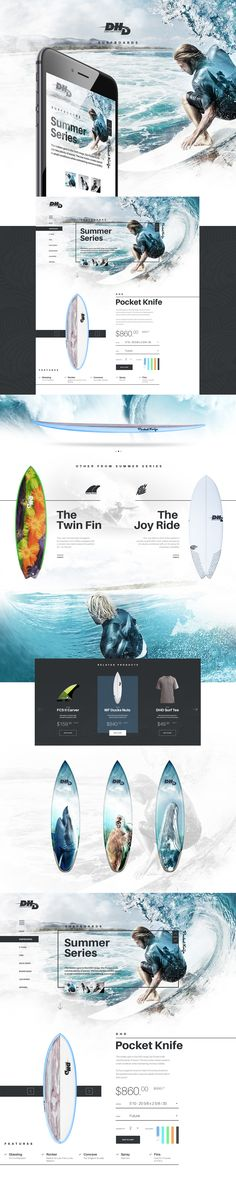DHD Surfing on Behance