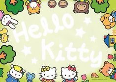 Kawaii memo paper - Hello Kitty - Sanrio. This could make cute frame for someones picture.