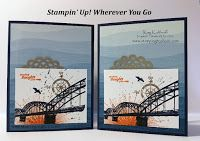 Stampin\' Up! Wherever You Go Masculine Card with How To Video, Kay Kalthoff, By the Shore Designer Series Paper, #stampingtoshare