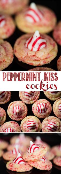 Peppermint kiss cookies are a delicious chewy soft homemade peppermint sugar cookie recipe topped with a peppermint hershey kiss peppermint cookies christmas kiss hershey easy recipe candycane soft how to make perfect m m cookies Easy Holiday Cookies, Xmas Cookies, Easter Cookies, Fun Cookies, Summer Cookies, Cookie Favors, Baby Cookies, Heart Cookies, Valentine Cookies