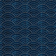 7 Tranquil Fabrics -- this one reminds me of that Japanese quilting on the indigo fabric like that.