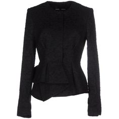 Proenza Schouler Blazer ($1,194) ❤ liked on Polyvore featuring outerwear, jackets, blazers, black, single breasted jacket, black blazer, proenza schouler, cotton blazer et proenza schouler jacket