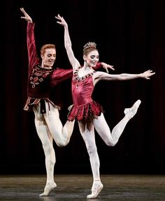 Sarah Lamb and Steven McRae in Balanchine's Rubies. The Royal Ballet  Alastair Muir / ROH