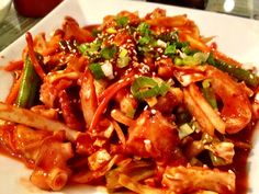 Spicy squid at Manna Korean Restaurant, SF