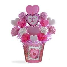 Valentine's Day Candy Bouquet Romantic Candy Hearts