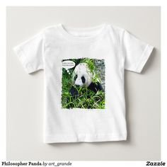 Philosopher Panda Infant T-shirt