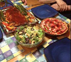 Ribs, with Honey Glazed BAKED Vegetables, Caesar Salad, and a Lemon ...
