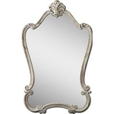 Check out the Uttermost 12833 Walton Hall White Arched Mirror