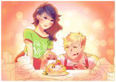 Adiren learning how to bake (Miraculous Ladybug, Marinette)