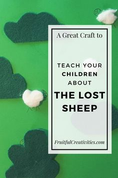 Teach your children about Jesus' love for us with this great parable of the lost sheep craft. Fun for toddlers and preschoolers. #preschoolcraft #lostsheepcraft #biblecraft Easy Toddler Crafts, Toddler Fun, Toddler Preschool, Preschool Activities, Easy Crafts, Sunday School Activities, Bible Activities, Indoor Activities For Kids, The Lost Sheep