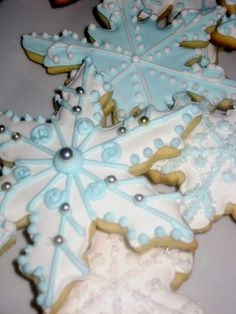 Snowflake Sugar Cookies,  these are very similar to the ones I make every year.