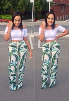 Cute Pants Street Style. #Africanfashion #AfricanClothing #Africanprints #Ethnicprints #Africangirls #africanTradition #BeautifulAfricanGirls #AfricanStyle #AfricanBeads #Gele #Kente #Ankara #Nigerianfashion #Ghanaianfashion #Kenyanfashion #Burundifashion #senegalesefashion #Swahilifashion DK