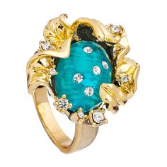 Andrew Hamilton Crawford Melted Sunflower Ring ($80) ❤ liked on Polyvore