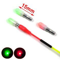 [ 4 Packs ] VERY SMALL Red / Green Mini 3mm Body Electronic Rod Light Glowing Float Tip / Glow Stick Waterproof
