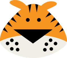 Tiger Face SVG files for cutting machines. Animal Heads, Animal Faces, Jungle Crafts, Face Cut Out, Jungle Theme Birthday, Cute Tigers, Jungle Animals, Wild Animals, Patch Aplique