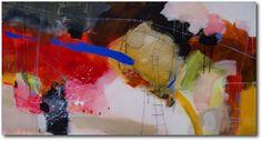«Blue marking» – akryl på lerret - 153x81 cm.  Kunstner - Ira Ivanova.  Original - RESERVERT hos Galleri SG.  Tilgjengelig som kunsttrykk