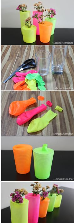 16 Awesome Ideas for DIY Christmas Decorations Art and Craft Glow In Dark Party, Glow Party, Diy Crafts For Kids, Home Crafts, Easy Crafts, Bottle Art, Bottle Crafts, Neon Birthday, Deco Table
