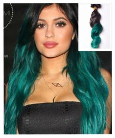 This listing is for a 100g set of Custom Kylie Jenner Celebrity Inspired Ombre Straight Black to Green High Quality Brazilian Remy Full Head Clip in Human Hair Extensions    All Hair Extensions in my shop can be customized to any hair extensions method including:   Clip In's  Tape In's  Pre-Bonded Fusion  Micro-Bead  Weaving Wefts    100% human hair  The color will last forever  Life time more than 18 months  Tangle free  Shedding free  The hair is very soft   Healthy Bouncy Shine  Holds…